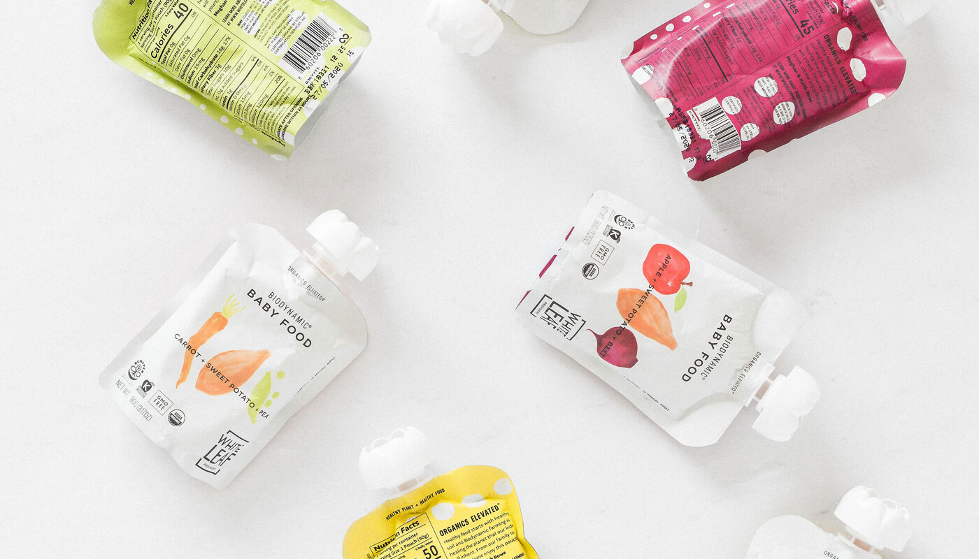 White leaf baby food packaging design brand identity12