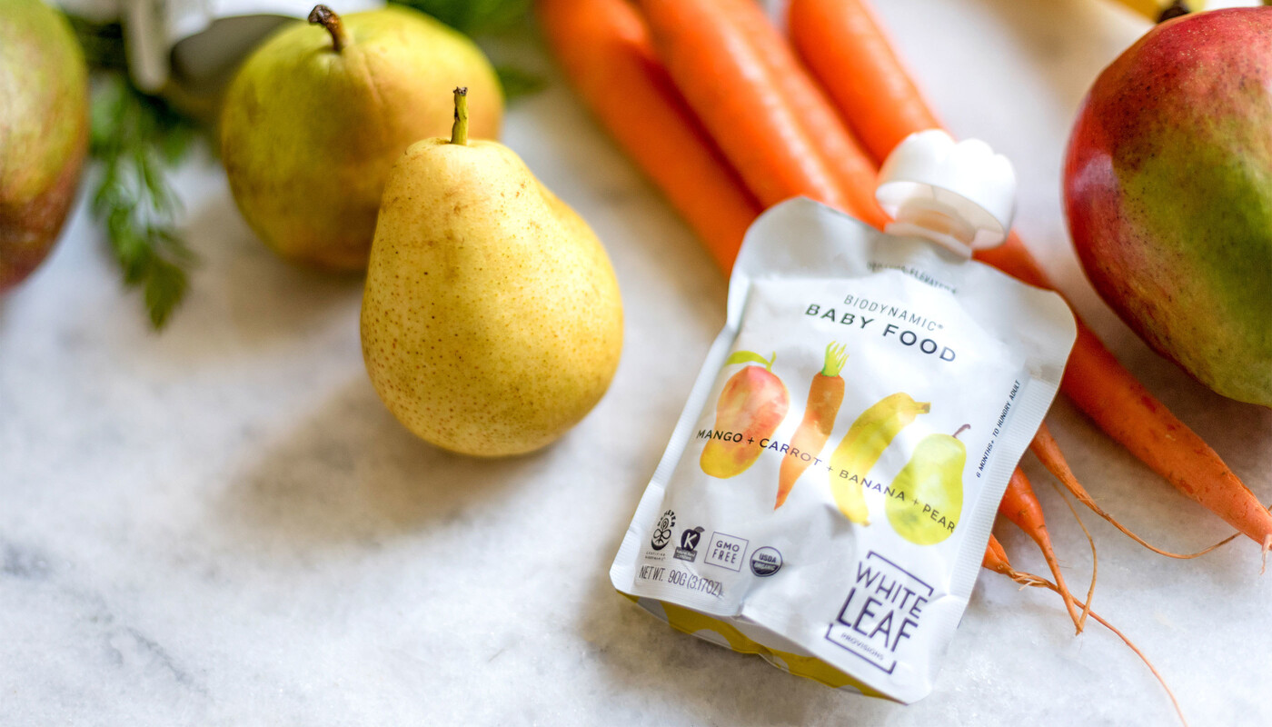 White leaf baby food packaging design brand identity19