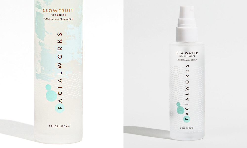 Facialworks skincare packaging design brand identity beauty7