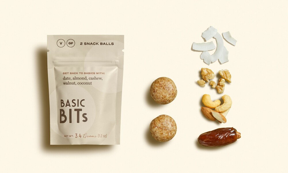 Basic bits snack ball brand identity food packaging design7