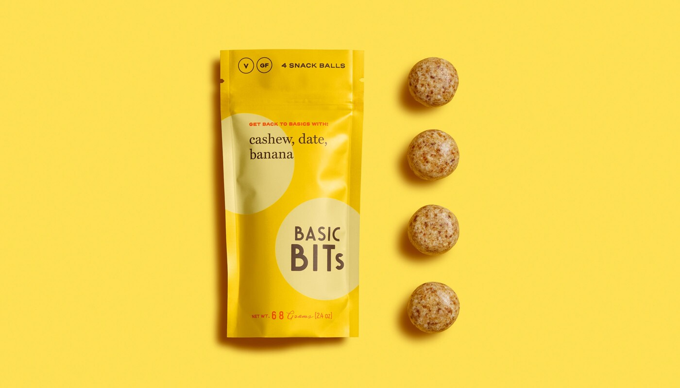 Basic bits snack ball brand identity food packaging design13