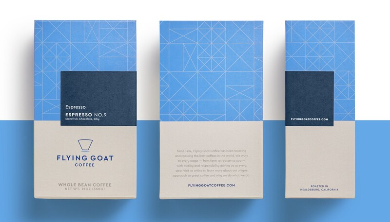 Flying goat coffee packaging design beverage brand identity1