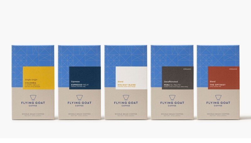 Flying goat coffee packaging design beverage brand identity2