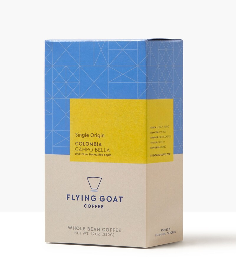 Flying goat coffee packaging design beverage brand identity4