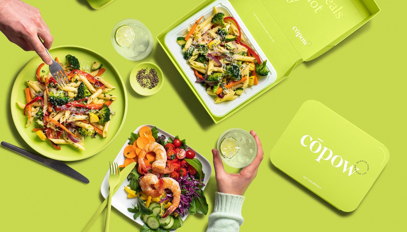 Copow meal delivery website branding packaging design 1