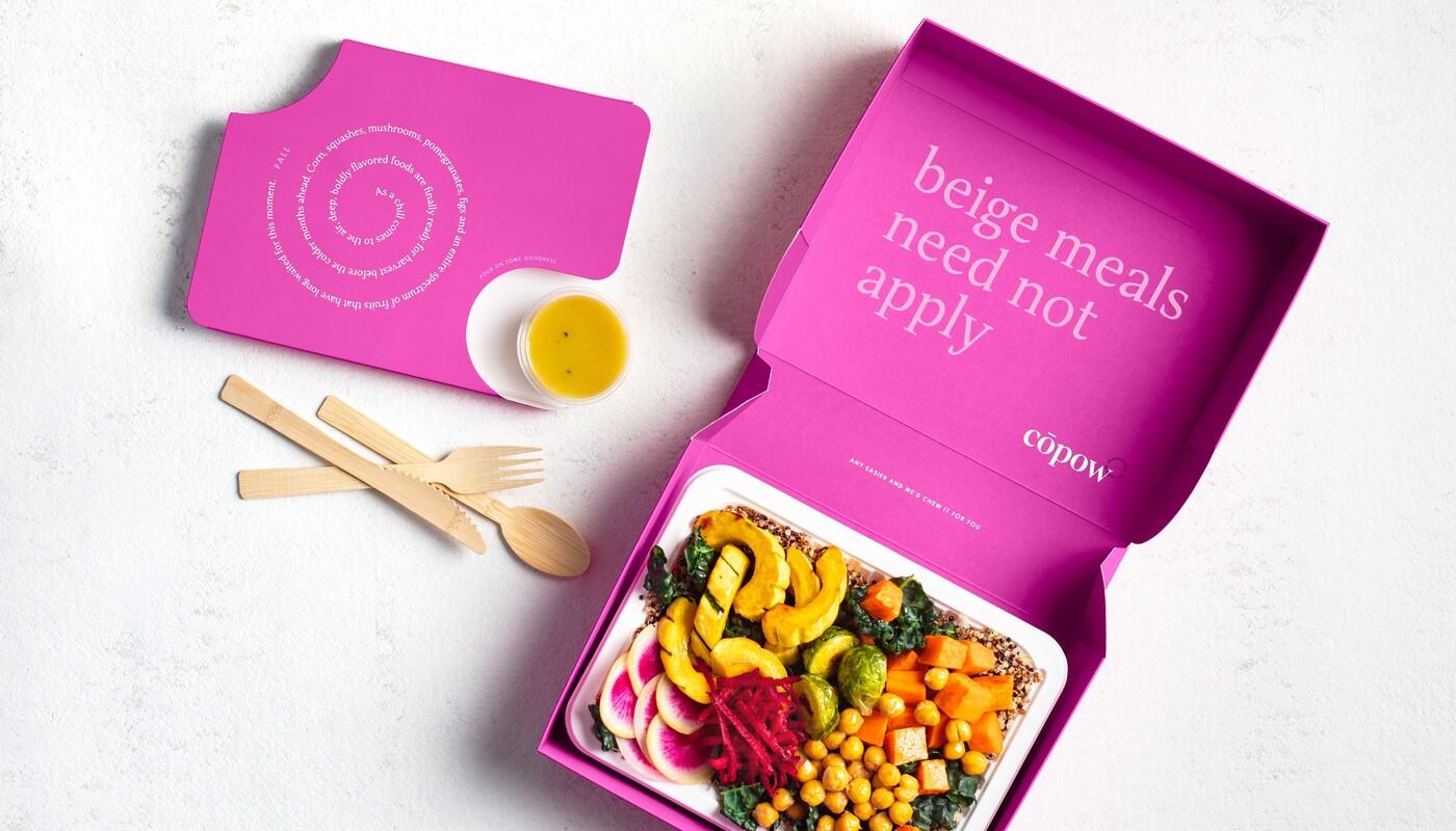Copow meal delivery website branding packaging design 3