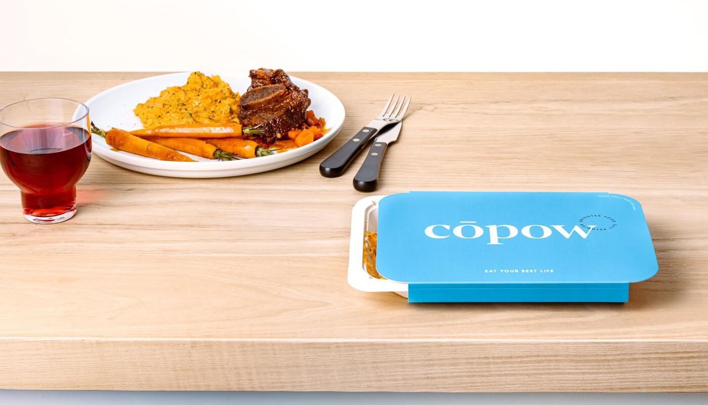 Copow meal delivery website branding packaging design 4