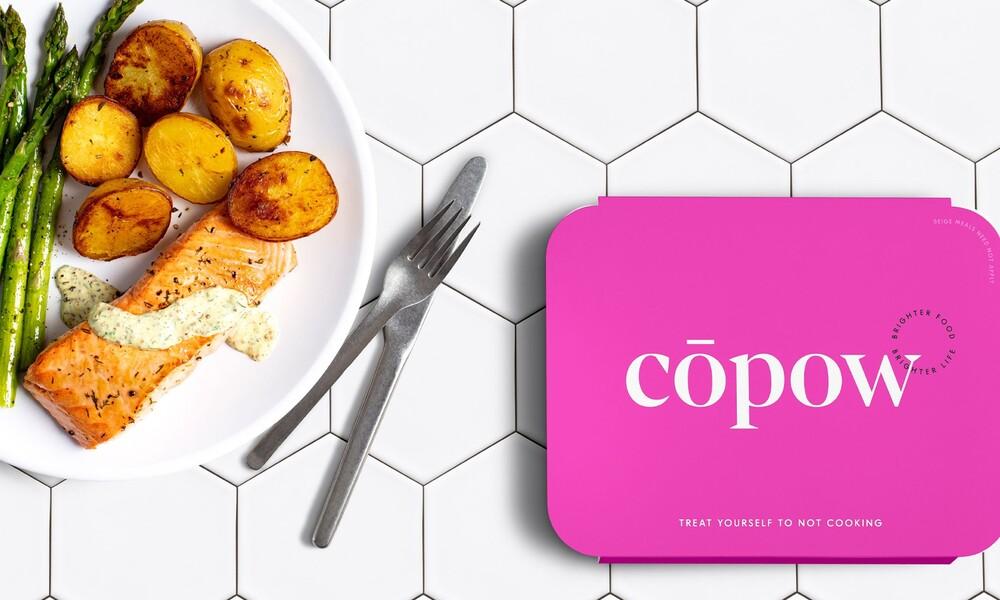 Copow meal delivery website branding packaging design 5