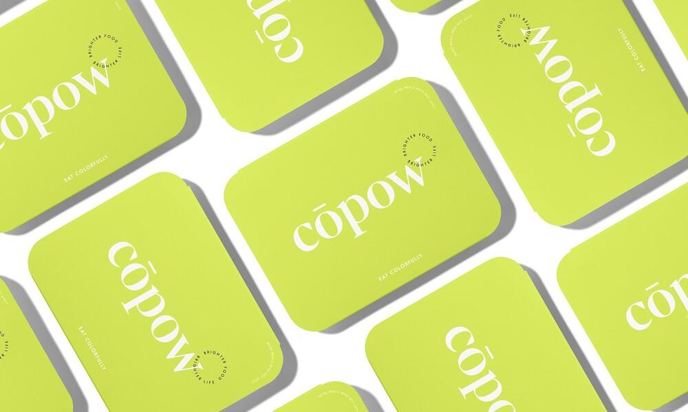 Copow meal delivery website branding packaging design 7