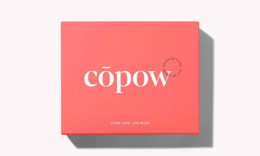 Copow meal delivery website branding packaging design 8