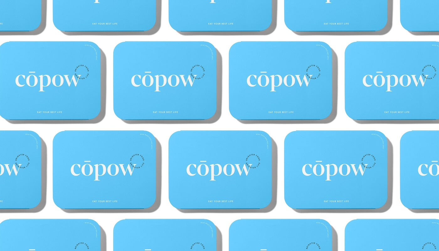 Copow meal delivery website branding packaging design 15
