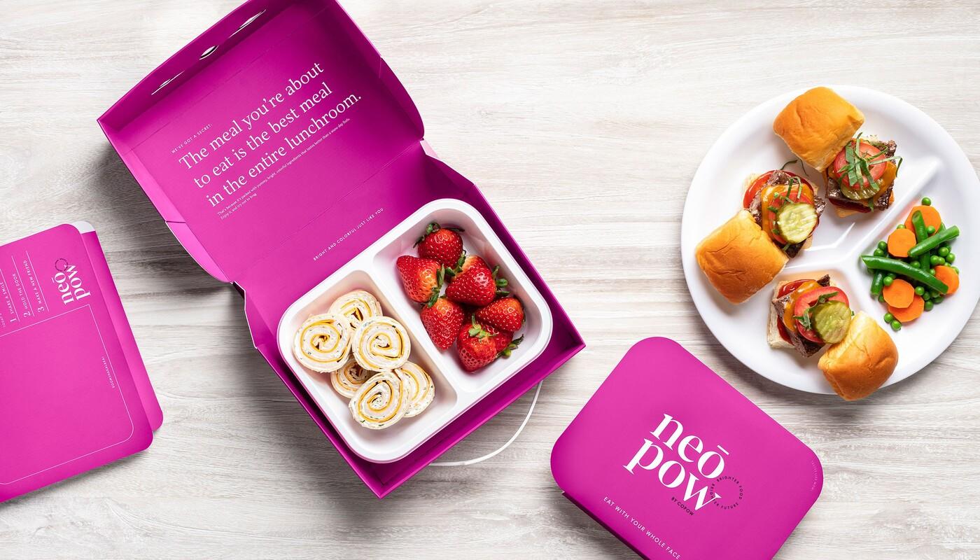 Copow meal delivery website branding packaging design 16