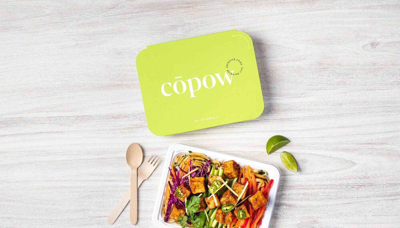 Copow meal delivery website branding packaging design 17