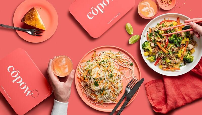 Copow meal delivery website branding packaging design 18