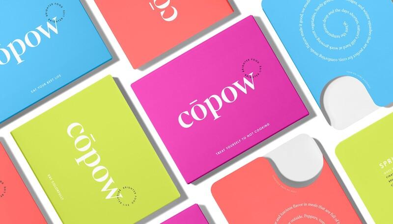 Copow meal delivery website branding packaging design 22