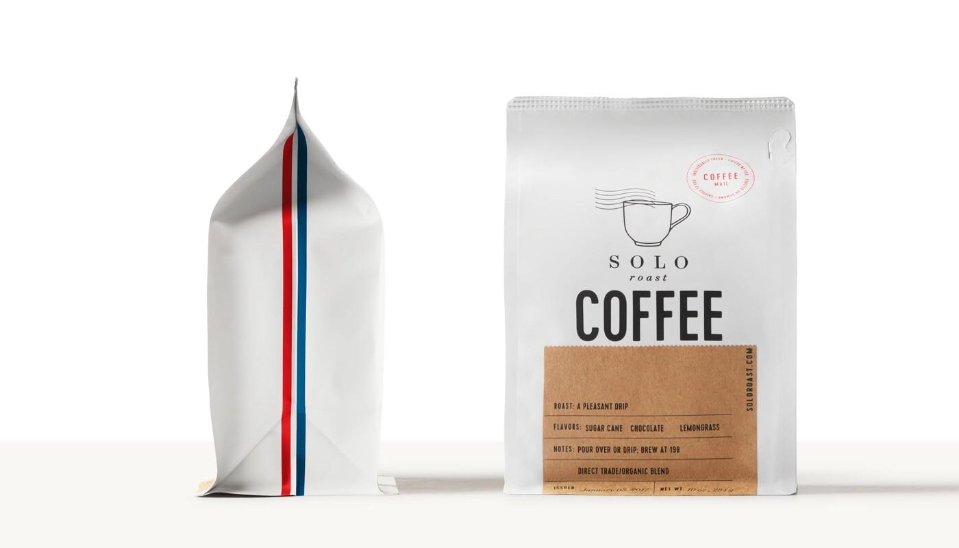 Solo roast coffee branding packaging design1