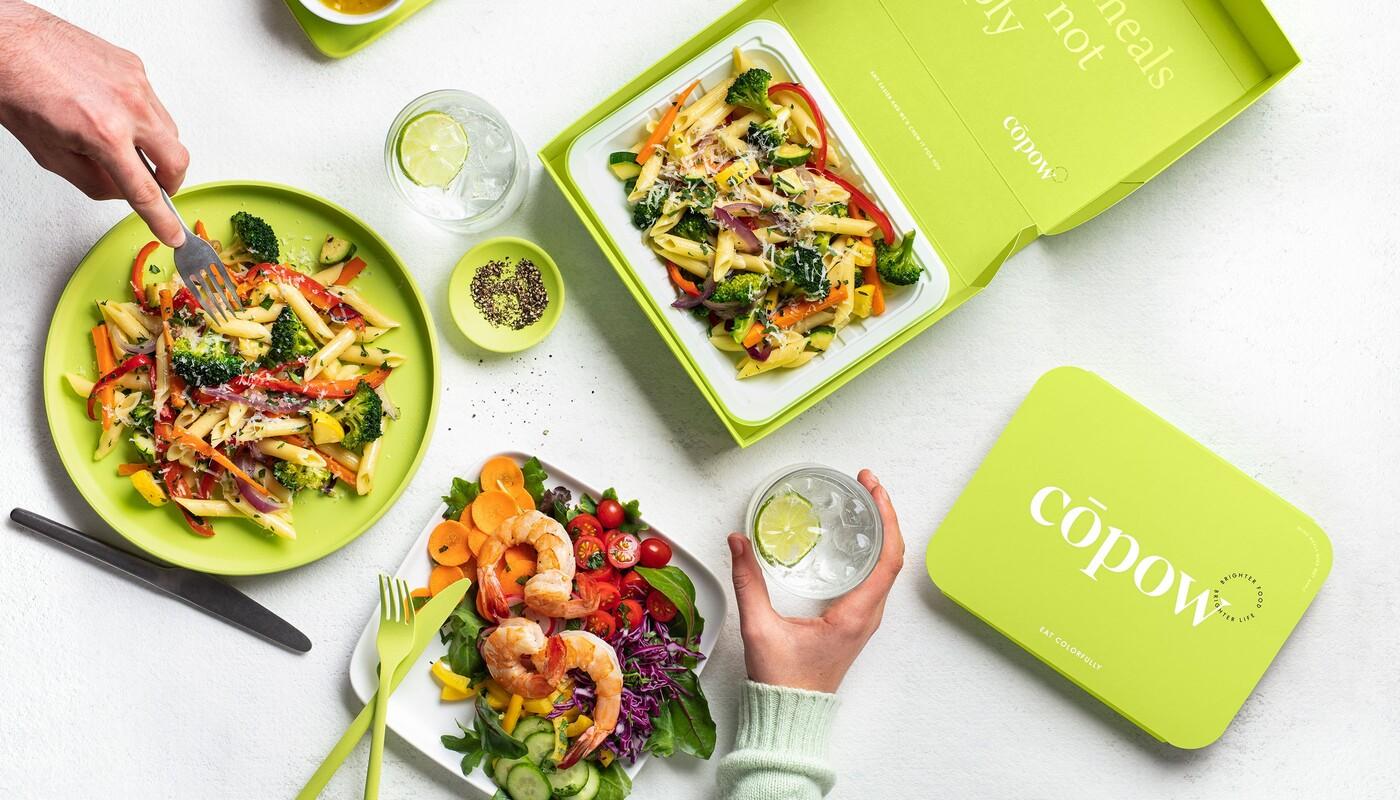 Copow meal delivery website branding packaging design 25