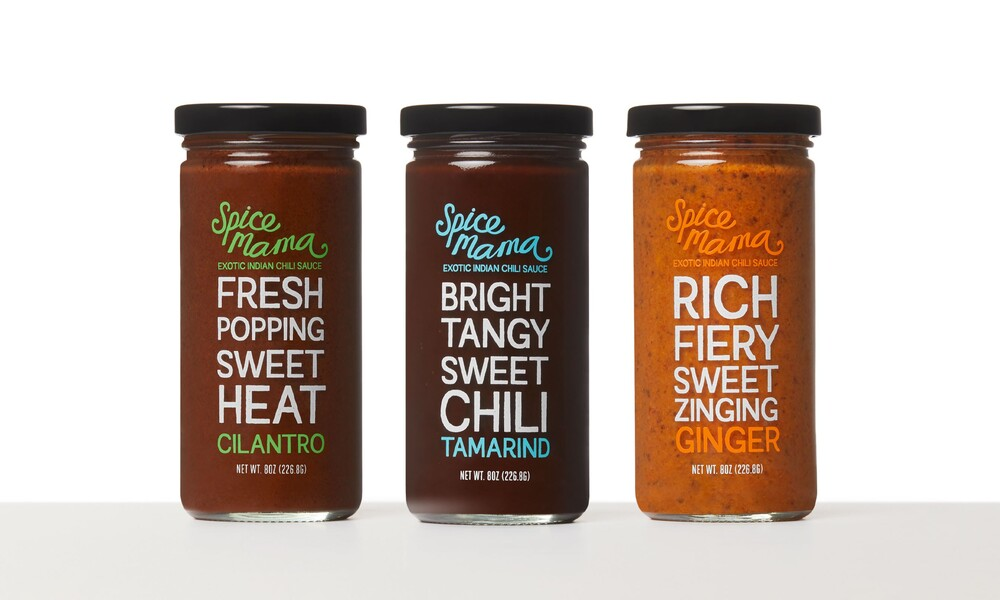 Spice mama indian sauce packaging design branding3