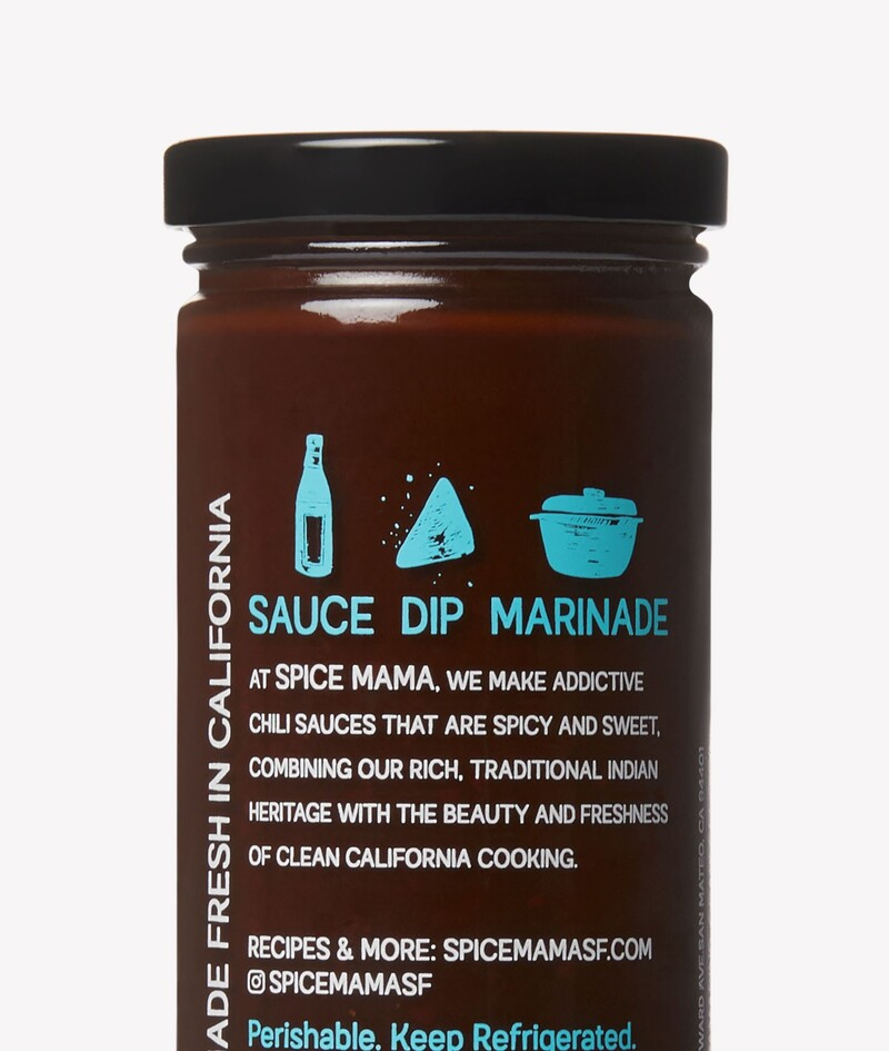 Spice mama indian sauce packaging design branding7